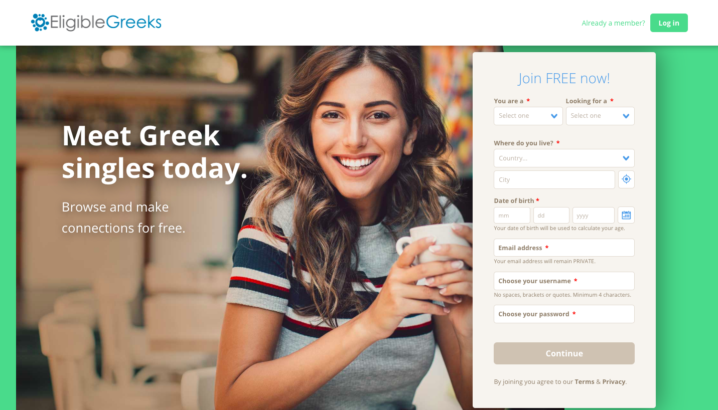 Greek dating site - Free online dating in Greece