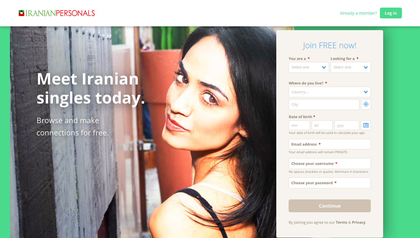 Free iranian dating website