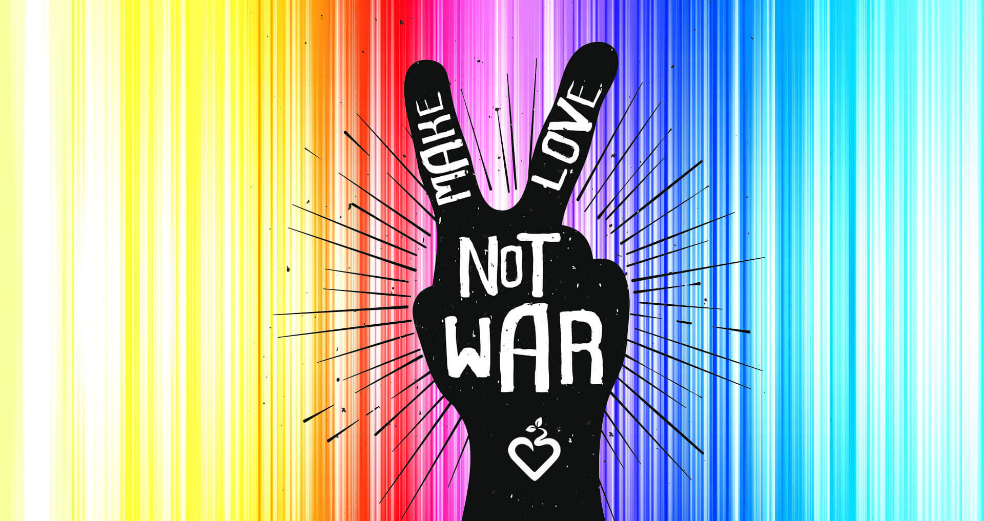 Make Love Not War social media campaign found with the hashtag #MakeLoveNotWar