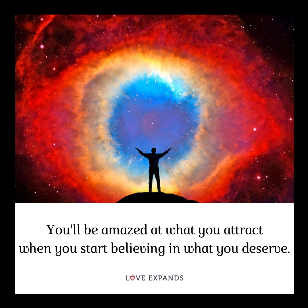 You'll be amazed at what you attract when you start believing in what you deserve.⠀