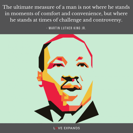 The ultimate measure of a man is not where he stands in moments of comfort and convenience, but where he stands at times of challenge and controversy. - Martin Luther King Jr. | Picture Quote