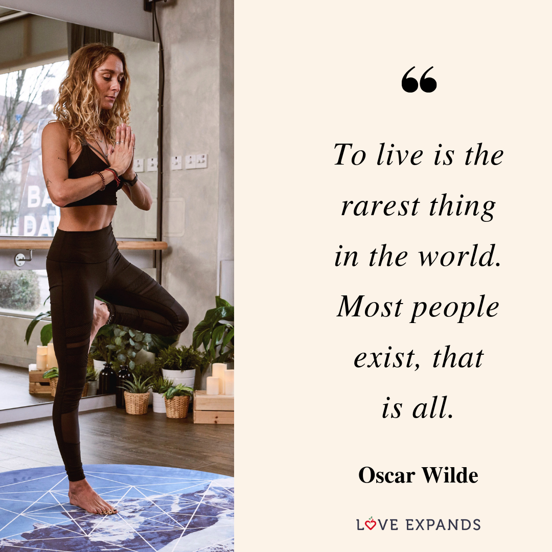 To live is the rarest thing in the world. Most people exist, that is all. -Oscar Wilde   Picture Quote