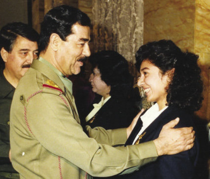 Saddam Hussein and Zainab Salbi
