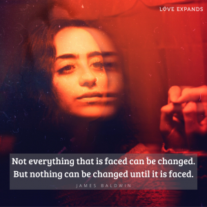 Picture quote by James Baldwin: Not everything that is faced can be changed. But nothing can be changed until it is faced.