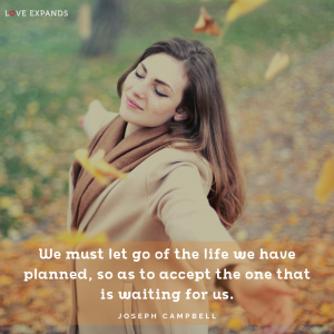 Picture quote about life and change by Joseph Campbell.