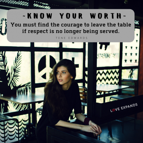 Know your worth…