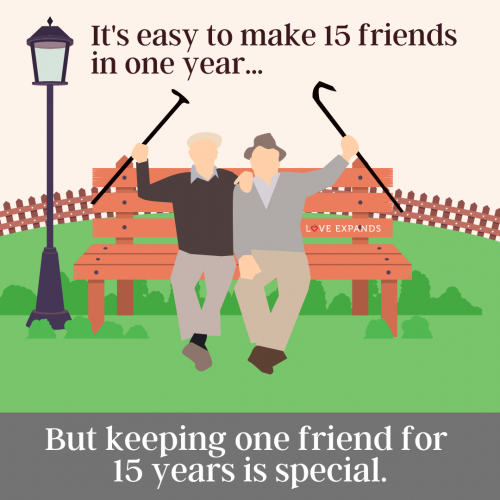 Keeping one friend for…