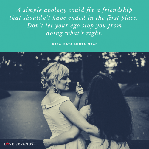 A simple apology could…