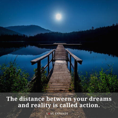 The distance between your dreams and reality is…