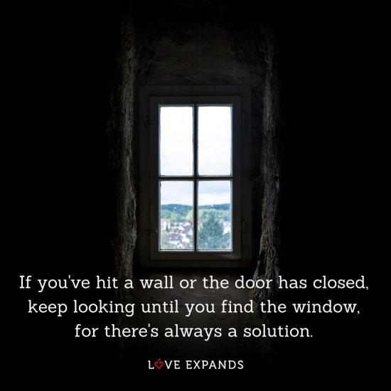 Dark walls and a window
