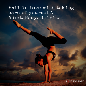 """Picture Quote: """"Fall in love with taking care of yourself. Mind. Body. Spirit."""""""