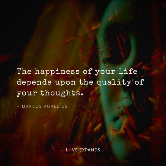 Picture quote by Marcus Aurelius of a pensive woman.