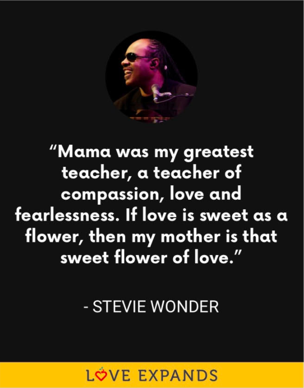 Stevie Wonder Mother's Day picture quote