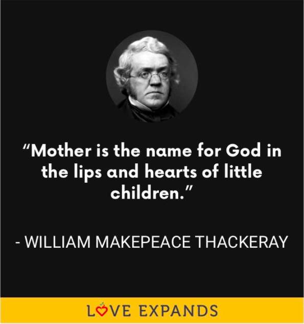 William Makepeace Thackeray Mother's Day picture quote