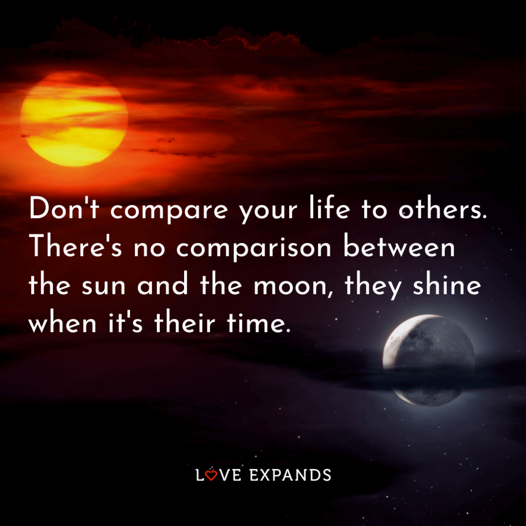 Life picture quote of the sun and moon.