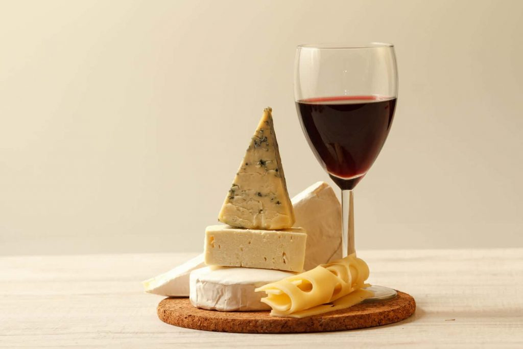 Wine and cheese: The key to happiness?