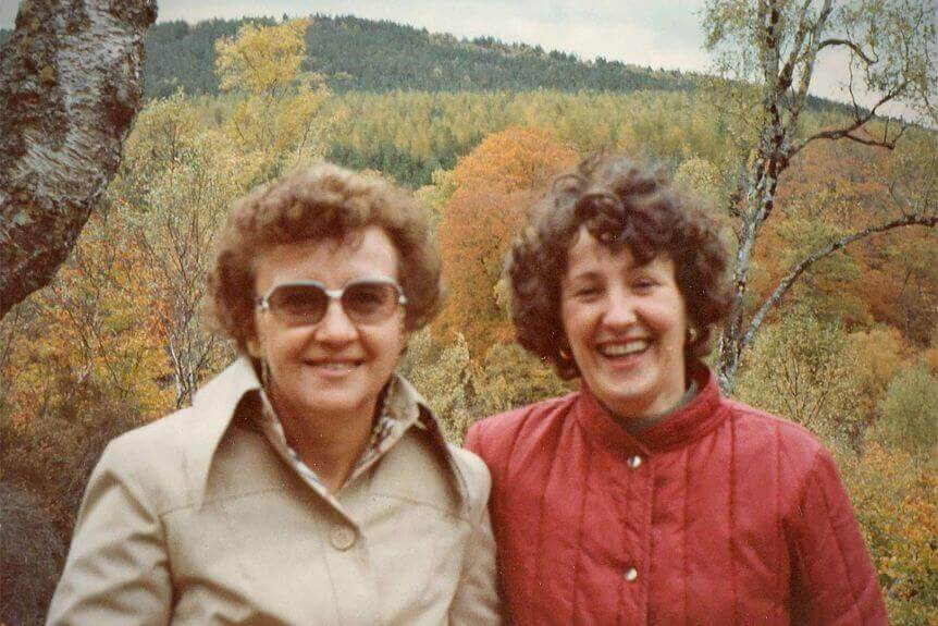 Jill Stretton (left) says she met her penfriend, Cathie Alexander, for the first time in 1982 in Scotland.