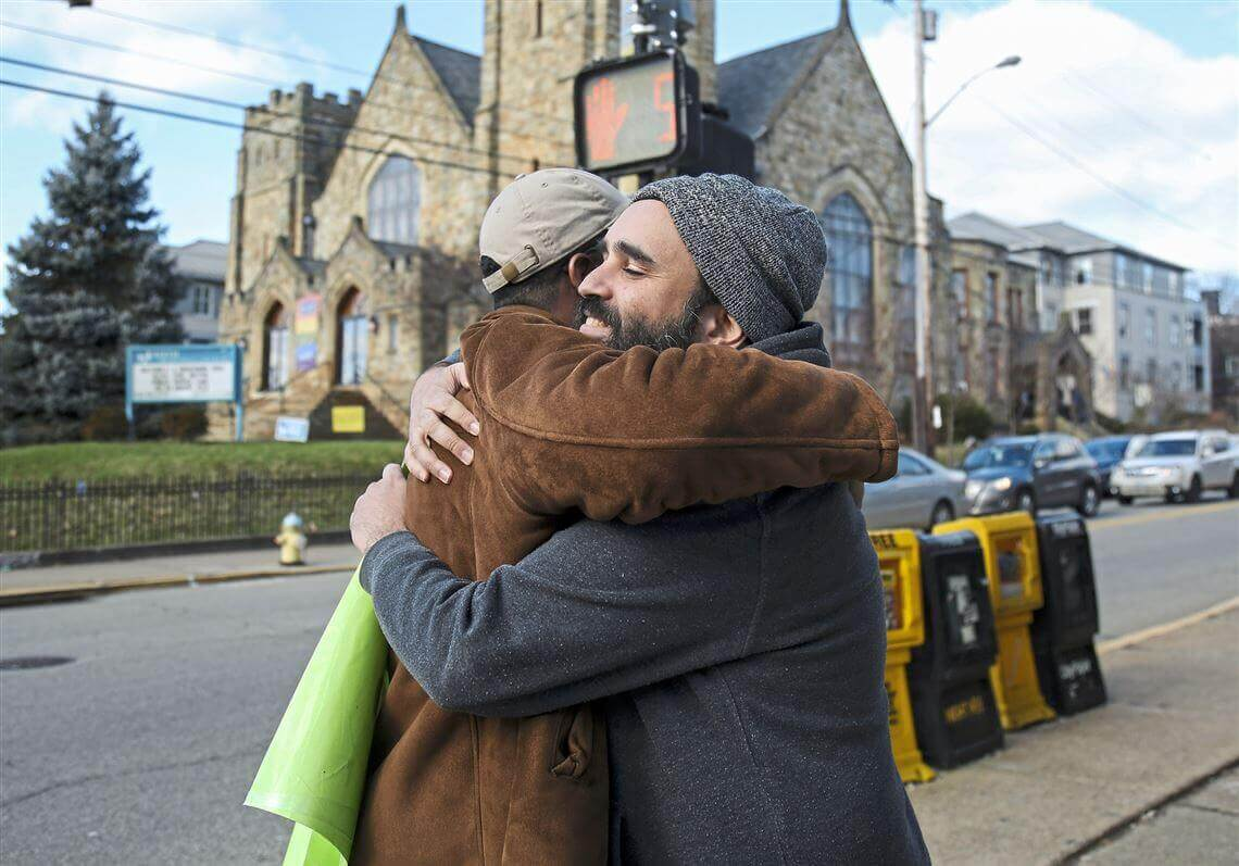 A man named Arie Moyal goes on hugging tour across the US