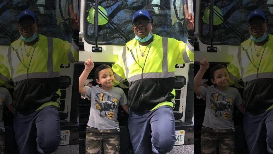 A Florida sanitation worker pulled a 7-year-old boy from the back of a garbage truck after the child hid in a trash can and was dumped into the vehicle.