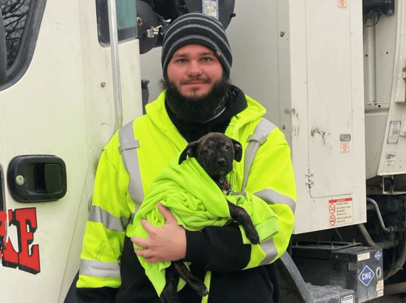 Rumpke Driver Rescues Abandoned Puppy