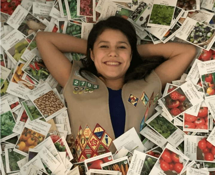 Alicia Serratos, who is just 14, came up with the idea to send out enough starter kits to have at least two seed libraries in all 50 states