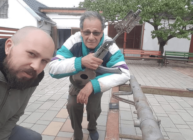 A Serbian sculptor, Nikola Macura, makes music not war by turning old weapons from junkyards into musical instruments. He plans to build the whole orchestra