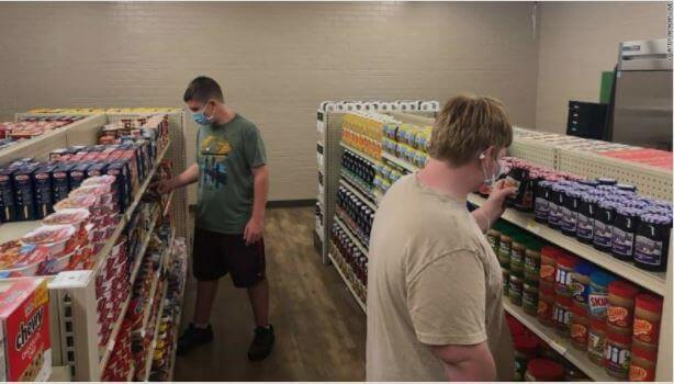 Launched in November, this unique grocery store inside Linda Tutt High School in Sanger, Texas, is serving more than 130 families right now, and the clientele keeps growing.