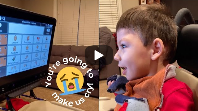 Non-Verbal Son Tells Mom He Loves Her For First Time