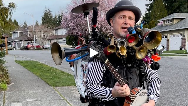 One-Man Band Brightens Neighbors Days During Pandemic Shutdowns