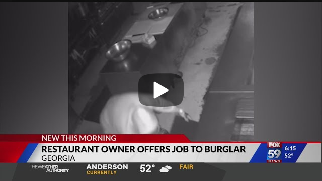 Owner of Georgia Restaurant Offers Job and Mentorship to Would-Be Thief