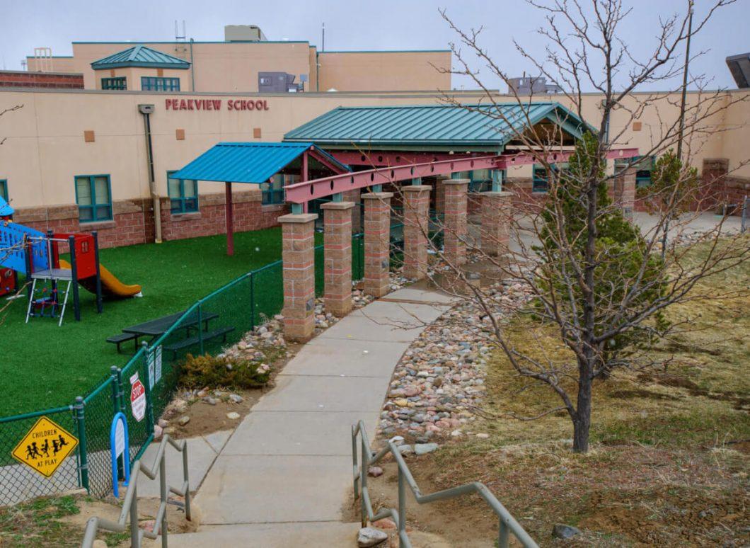 Peakview School, shown here in a March 23, 2021 photo, is a Preschool through eighth grade school in Walsenburg, Colorado