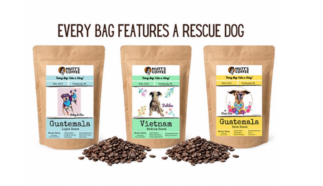Mutt's Coffee Dog Rescue Coffee Bean Bag