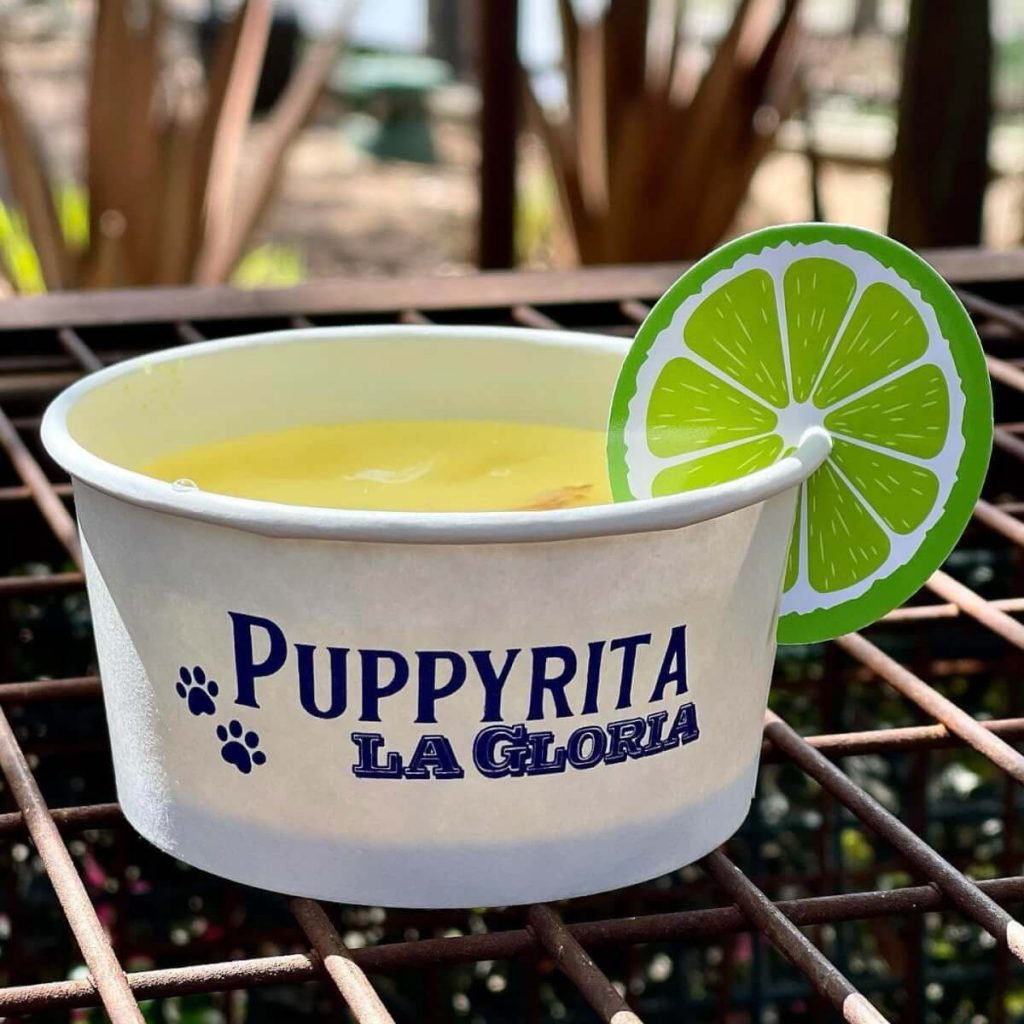 Puppyritas are being sold at a Mexican restaurant in San Antonio
