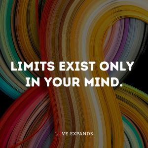 """Inspirational & Motivational picture quote: """"Limits exist only in your mind."""""""