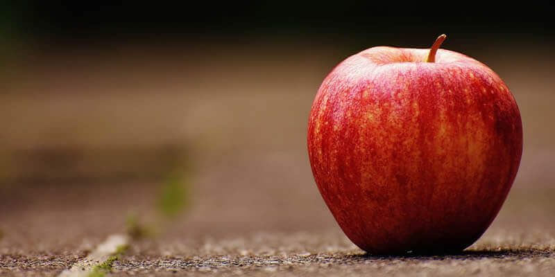 Interesting fact: an apple can last up to 100 months