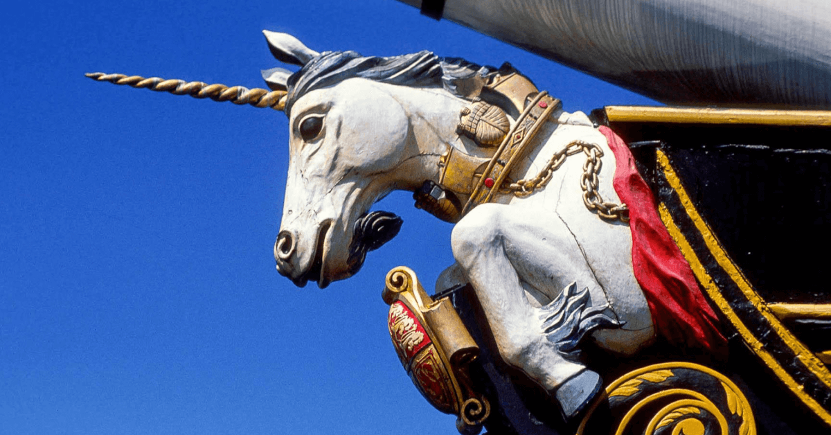 The unicorn is the national animal of Scotland.