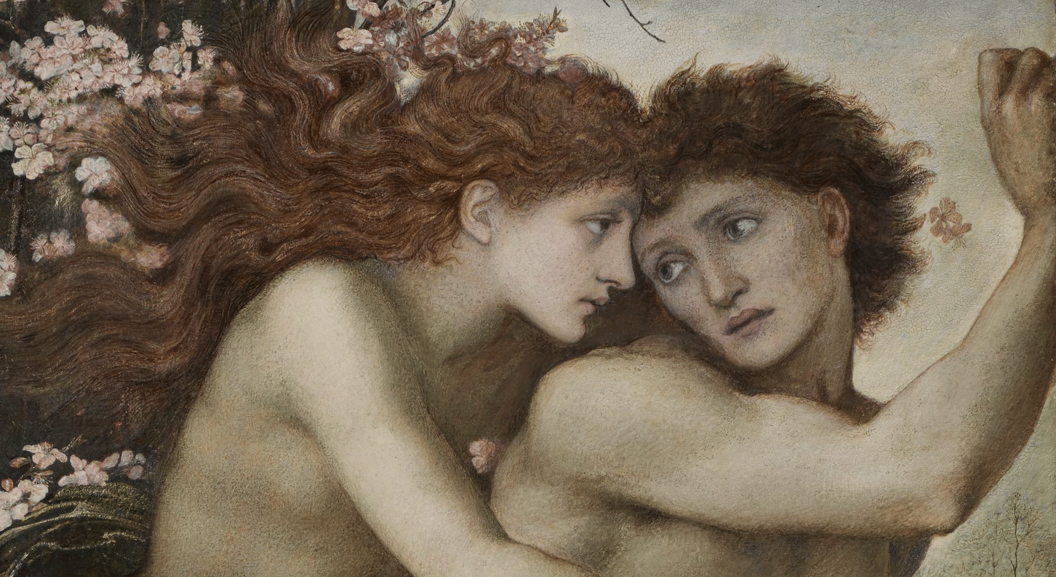 Painting of lovers looking at one another