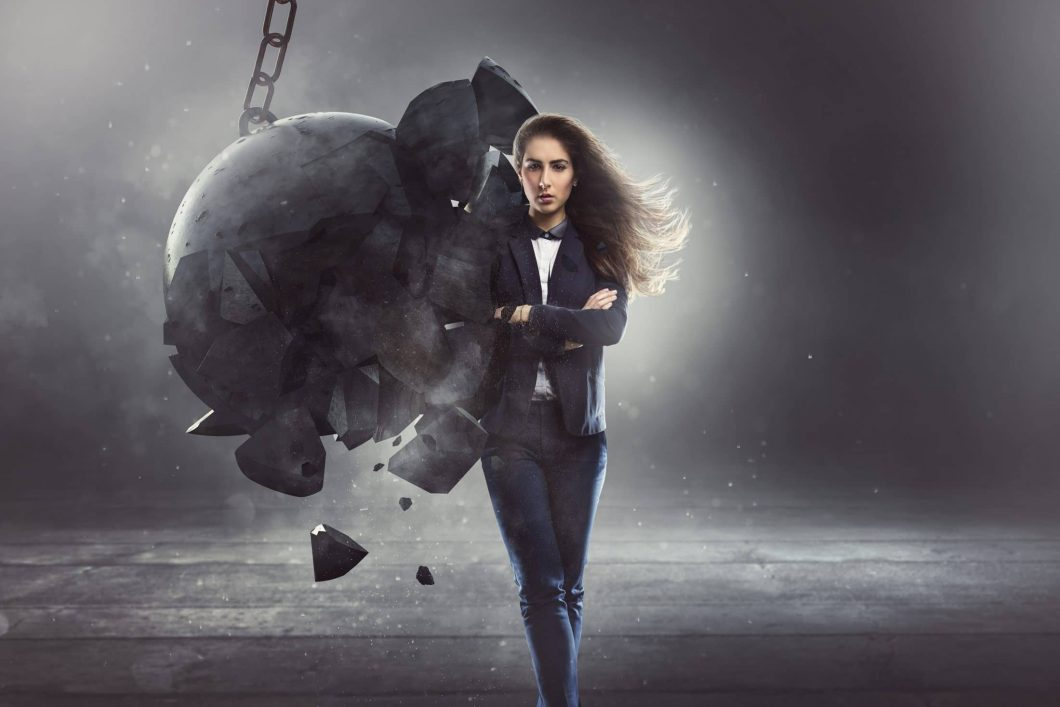 A woman with resilience and a wrecking ball