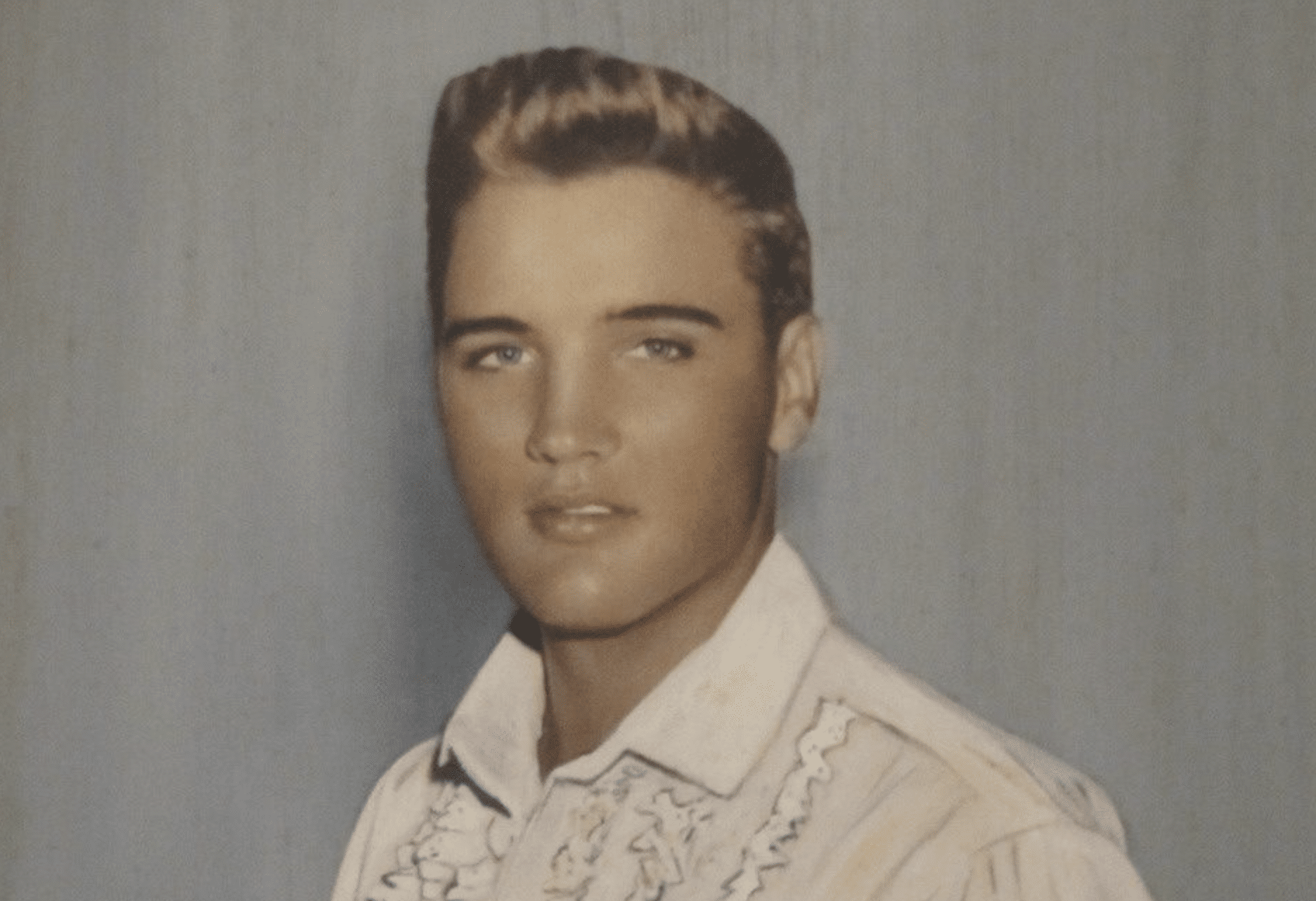 Elvis with his natural blonde hair