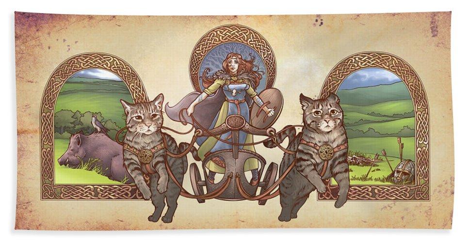 Freya Driving Her Cat Chariot
