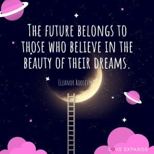 Picture Quote: The future belongs to those who believe in the beauty of their dreams.