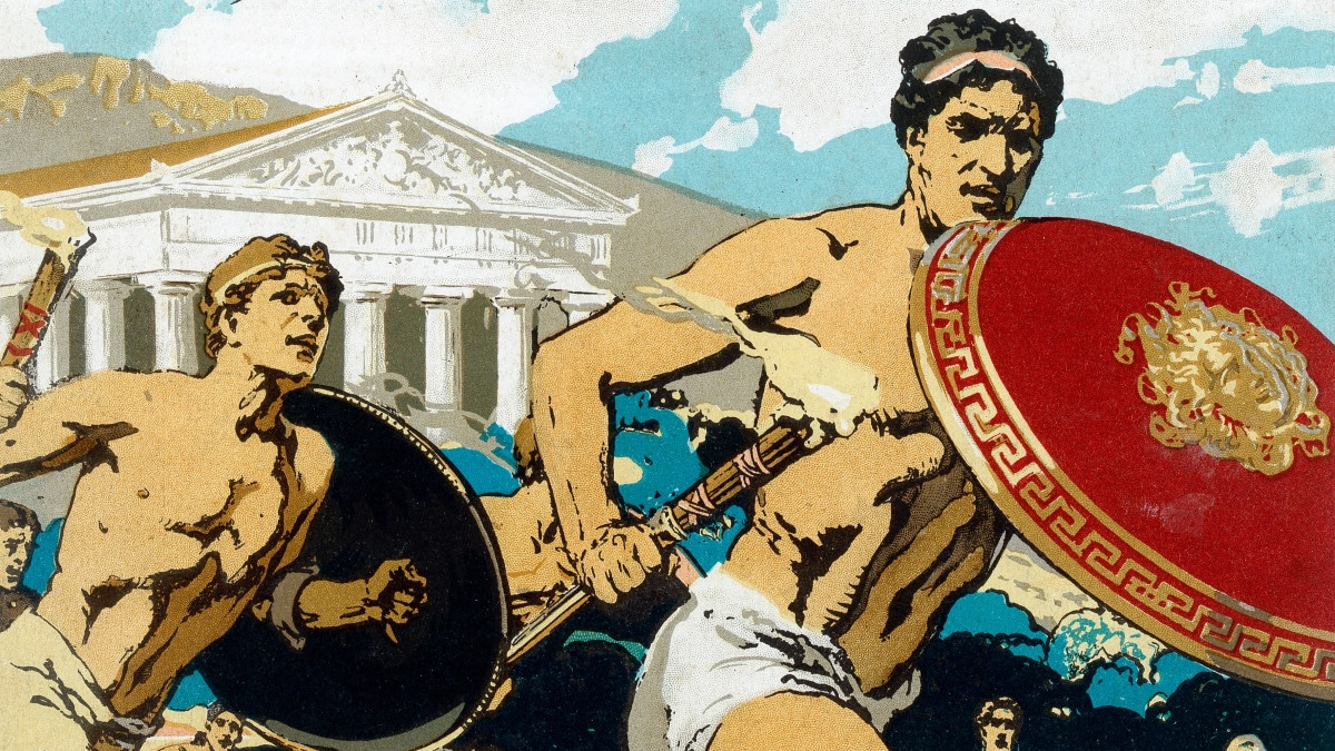 In the Ancient Olympics, athletes performed naked