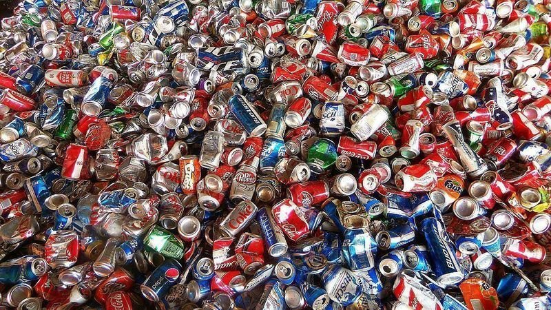recycled tin cans