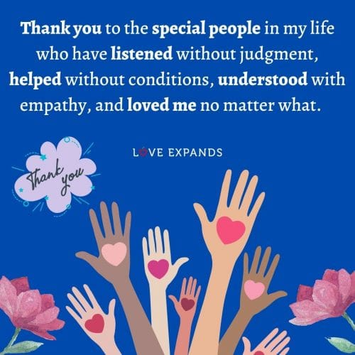 Thank you to the special people in my life…
