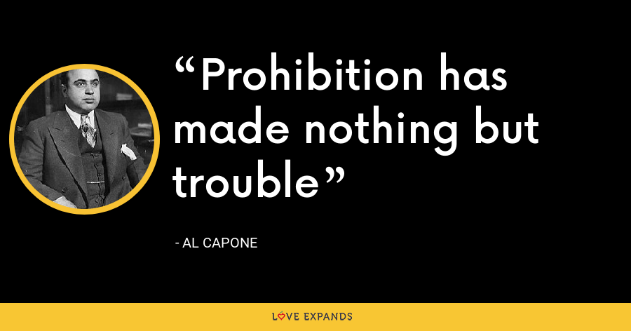 Prohibition has made nothing but trouble - Al Capone