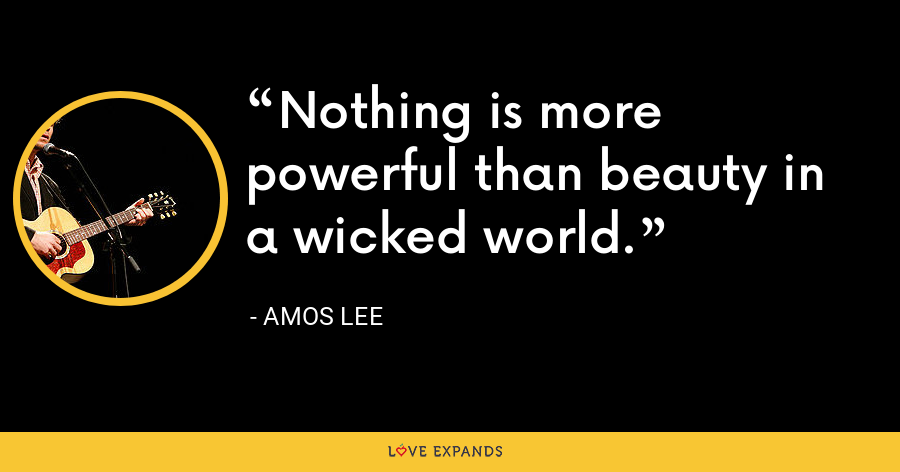 Nothing is more powerful than beauty in a wicked world. - Amos Lee