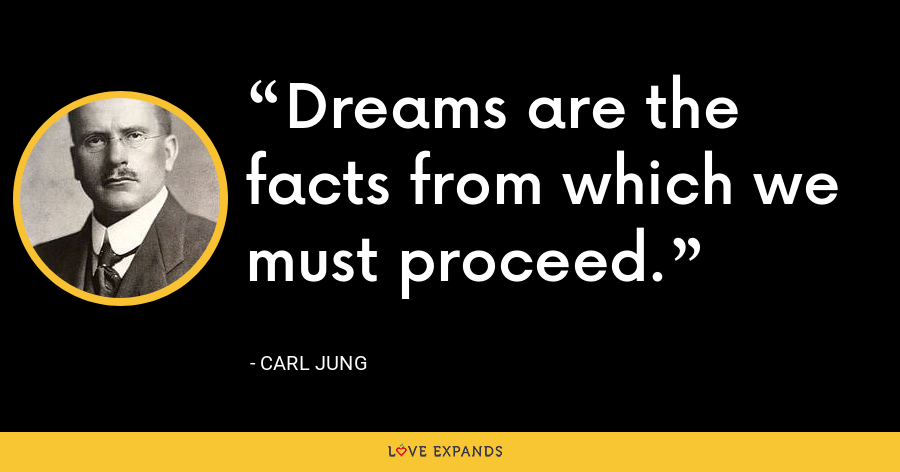 Dreams are the facts from which we must proceed. - Carl Jung