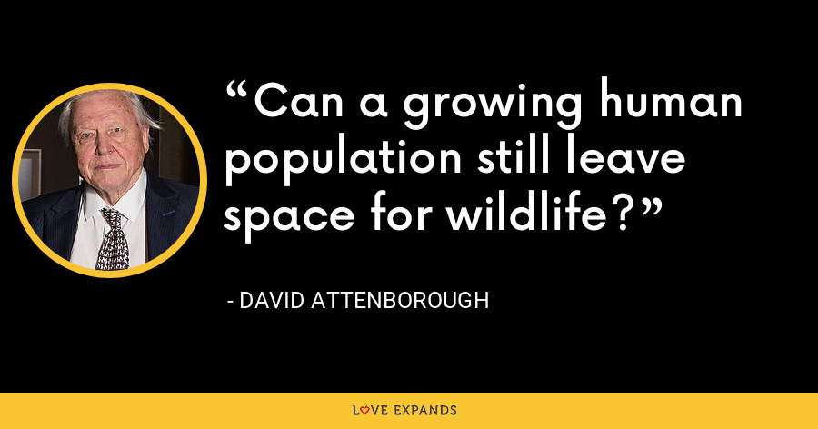 Can a growing human population still leave space for wildlife? - David Attenborough
