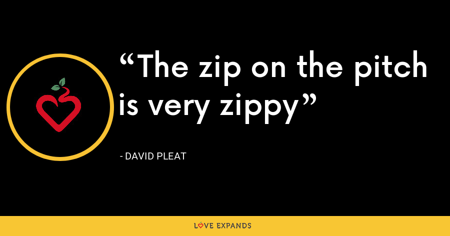 The zip on the pitch is very zippy - David Pleat