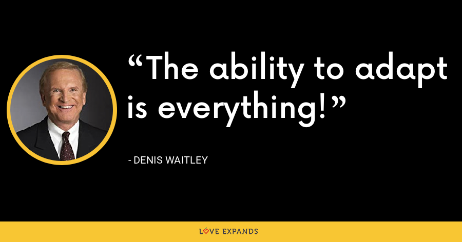 The ability to adapt is everything! - Denis Waitley